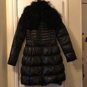 Elie Tahari puffer coat w/ removable fur collar